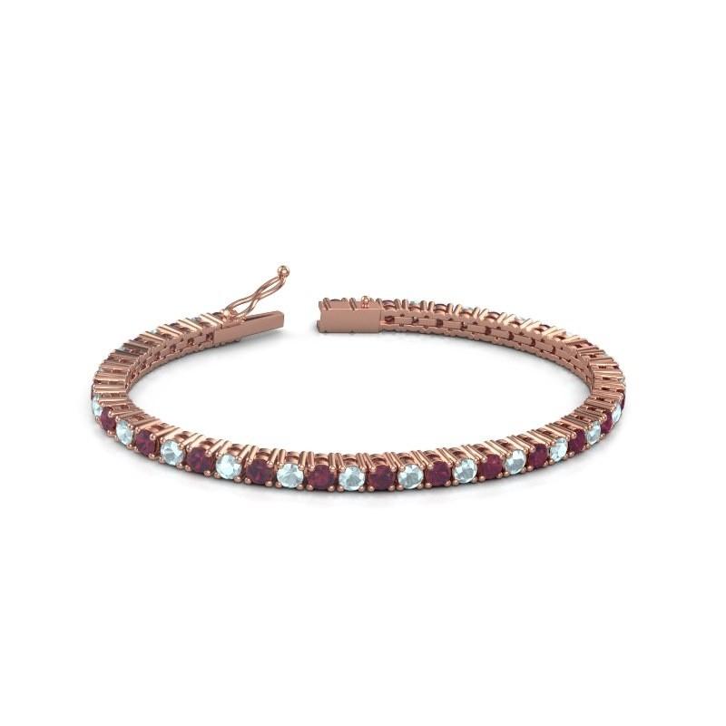 Tennisarmband Jenny 375 rosé goud rhodoliet 3.5 mm