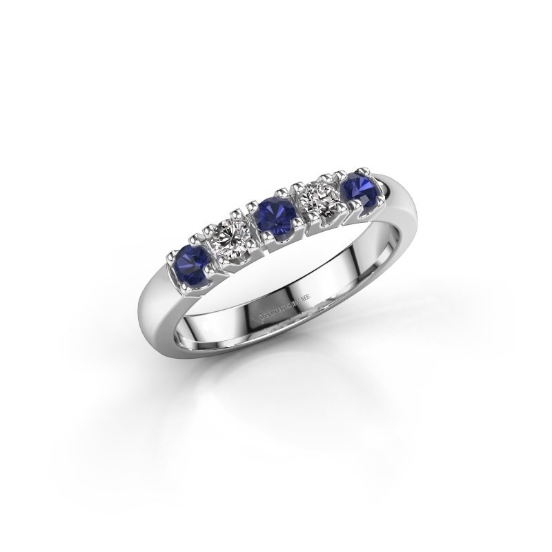 Engagement ring Rianne 5 585 white gold sapphire 2.7 mm