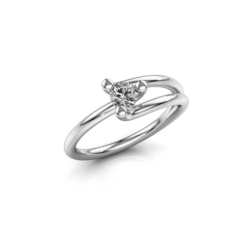 Engagement ring Roosmarijn 950 platinum lab-grown diamond 0.25 crt