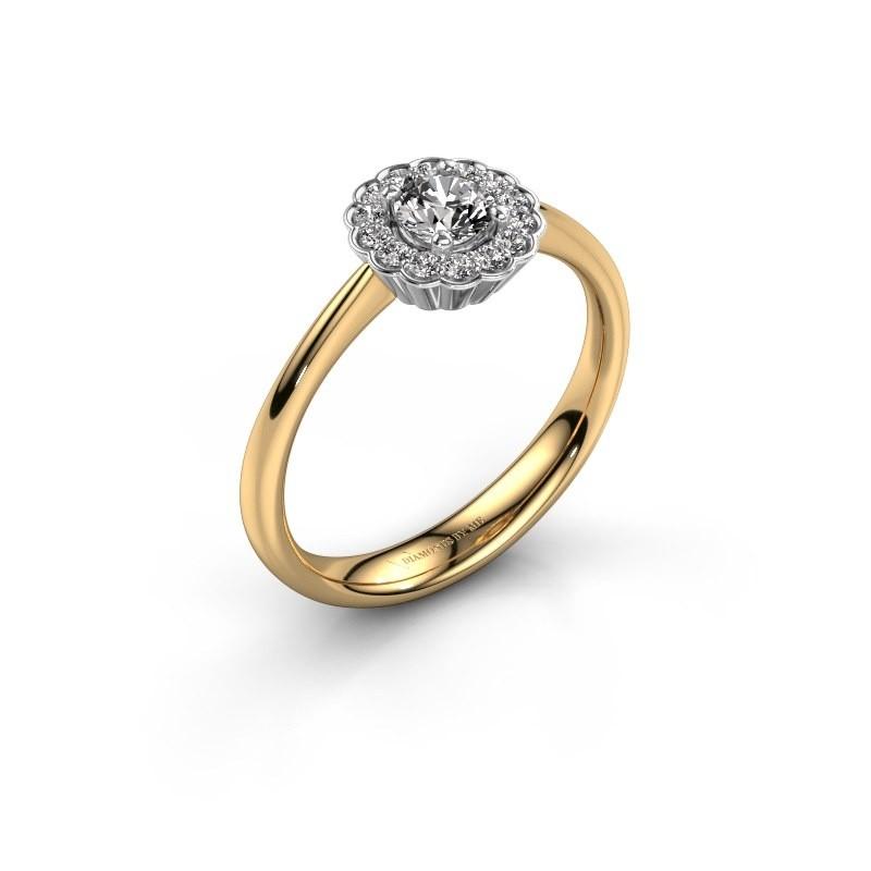 Verlovingsring Debi 585 goud lab-grown diamant 0.44 crt