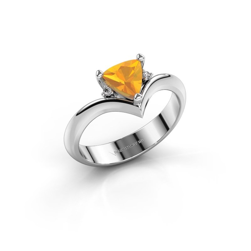 Ring Arlette 925 zilver citrien 7 mm