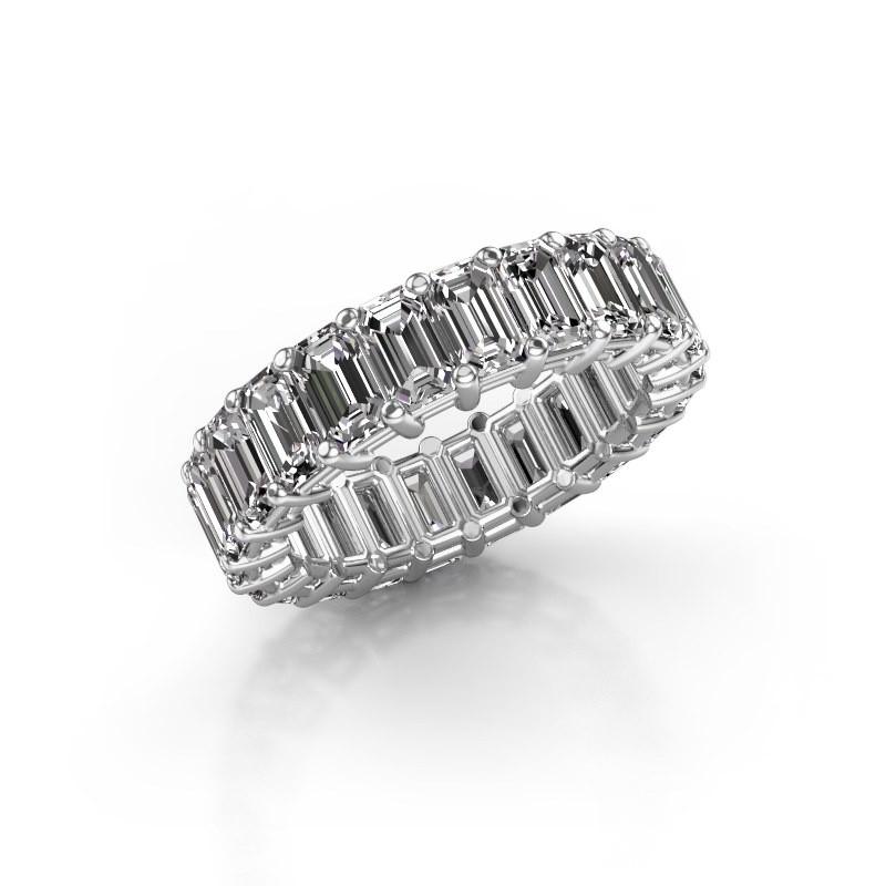 Ring Heddy EME 5x3 585 witgoud diamant 6.38 crt