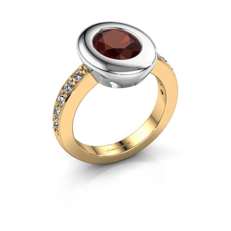 Ring Selene 2 585 gold garnet 9x7 mm