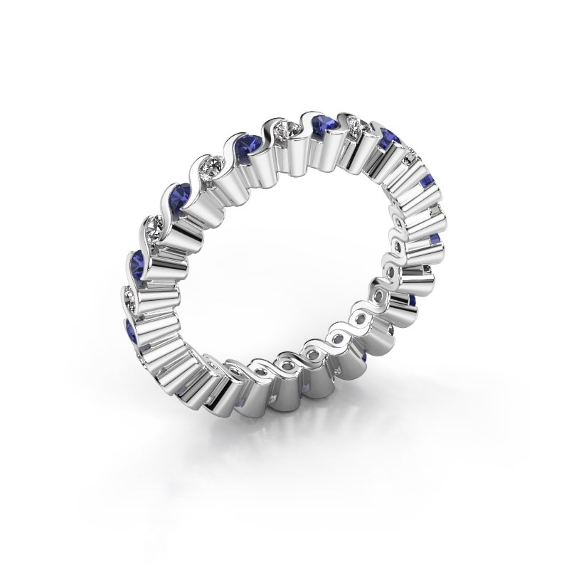 Stackable ring Faye 585 white gold sapphire 2 mm