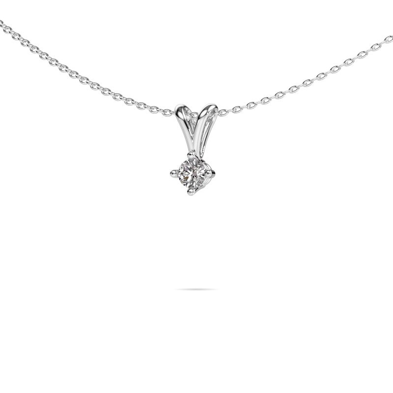 Ketting Jannette 585 witgoud lab-grown diamant 0.20 crt