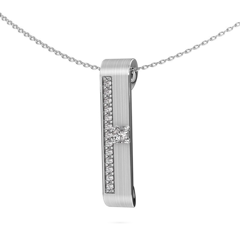 Halsketting Vicki 585 witgoud diamant 0.295 crt