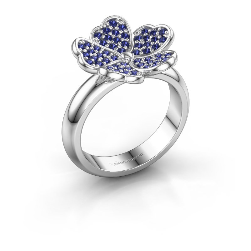 Ring Daphne 925 silver sapphire 1.2 mm
