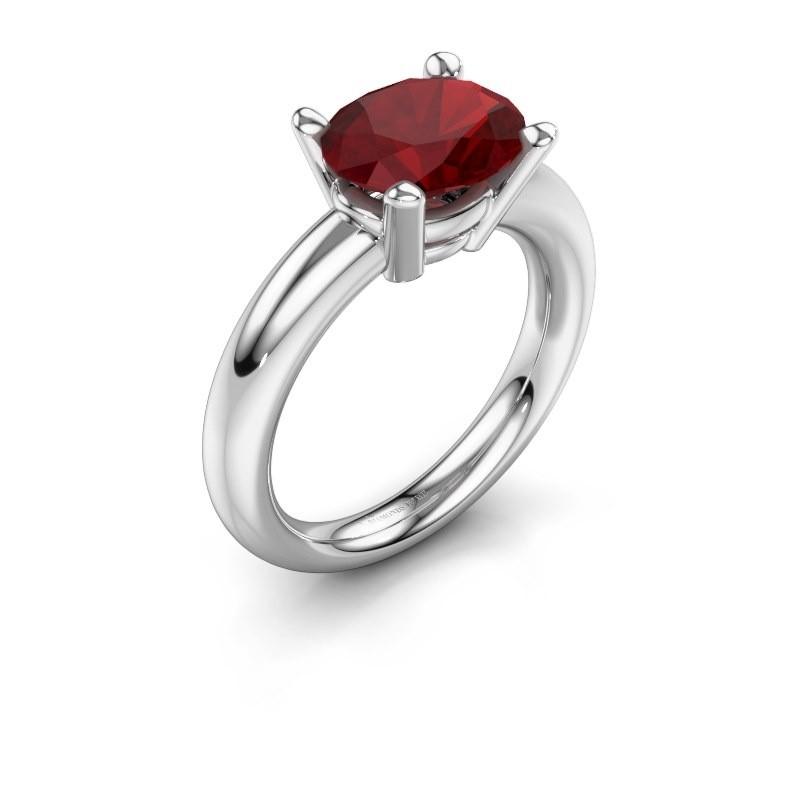 Ring Janiece 925 Silber Rubin 10x8 mm