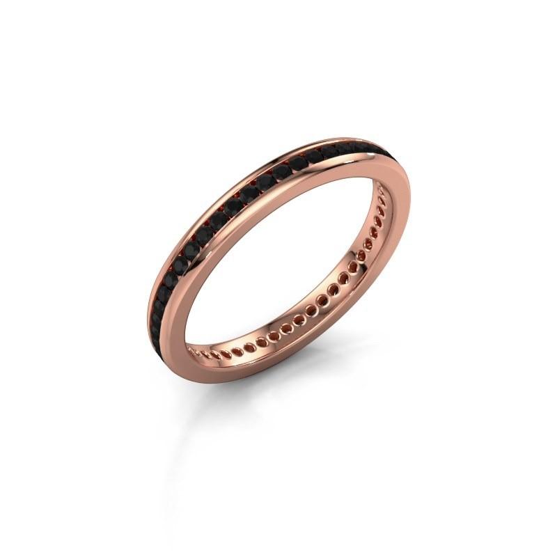 Aanschuifring Lura 1 375 rosé goud zwarte diamant 0.588 crt