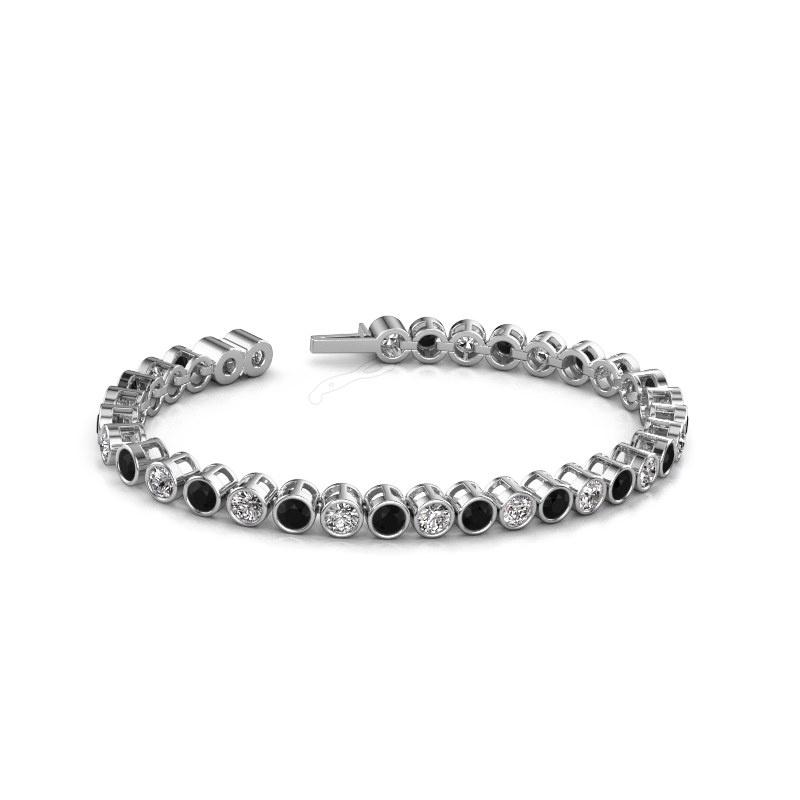 Tennisarmband Allegra 4 mm 585 witgoud zwarte diamant 10.45 crt