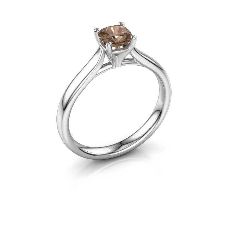 Verlovingsring Mignon cus 1 925 zilver bruine diamant 0.50 crt