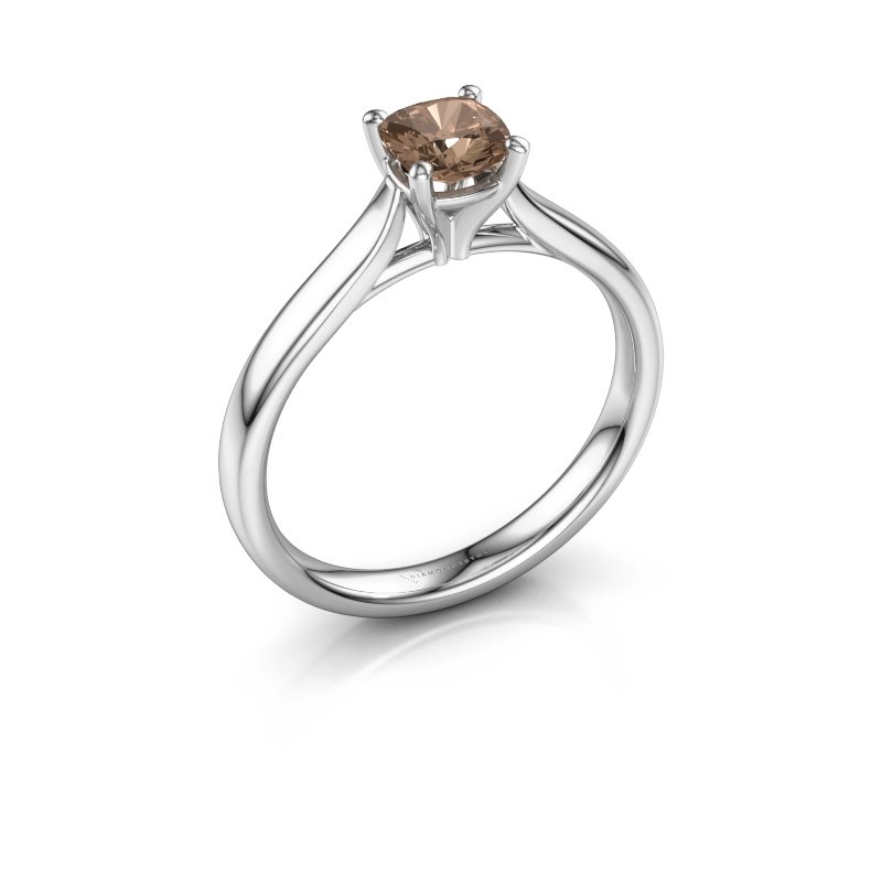 Verlobungsring Mignon cus 1 925 Silber Braun Diamant 0.50 crt