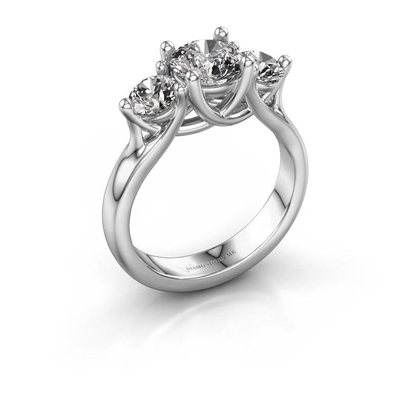 Engagement ring Esila 925 silver lab grown diamond 1.70 crt