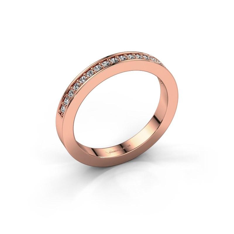 Aanschuifring Loes 4 585 rosé goud zirkonia 1.3 mm