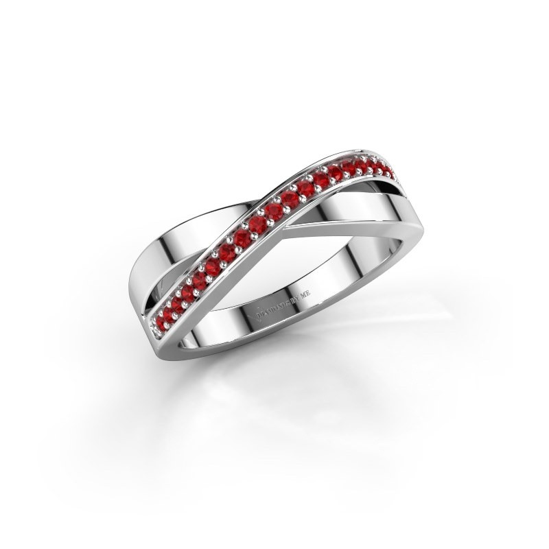 Ring Kaley 950 platina robijn 1.2 mm