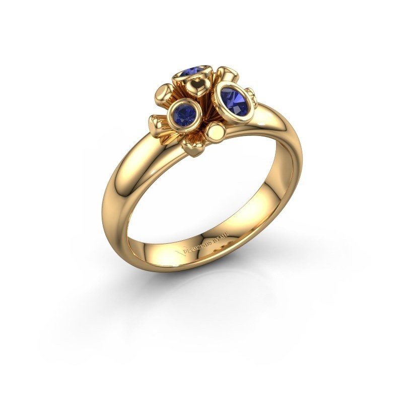 Ring Pameila 585 goud saffier 2 mm