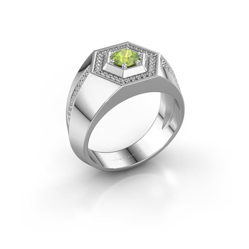 Men's ring Sjoerd 925 silver peridot 4.7 mm