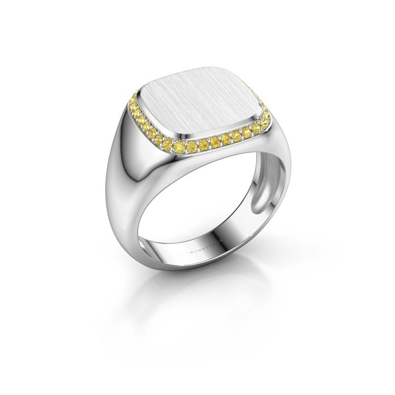 Heren ring Jesse 1 925 zilver gele saffier 1.2 mm