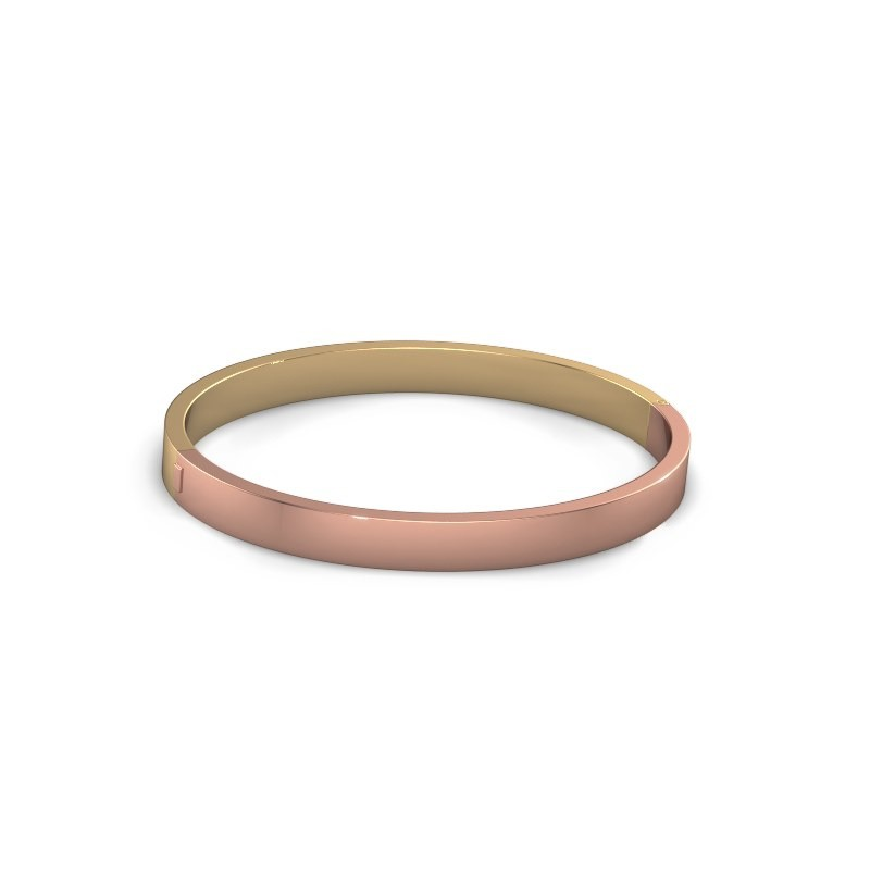 Slavenarmband Edra 6mm 585 rosé goud