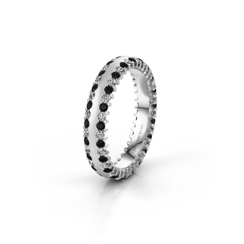 Wedding ring WH2139L24B 950 platinum black diamond ±4x2 mm