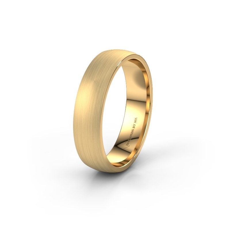 Wedding ring WH0154M25XM 375 gold ±5x1.5 mm