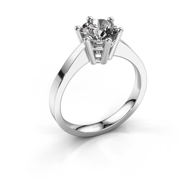 Verlobungsring Noortje 585 Weißgold Diamant 1.00 crt