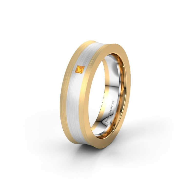 Wedding ring WH2238L2 585 gold citrin ±6x2.2 mm
