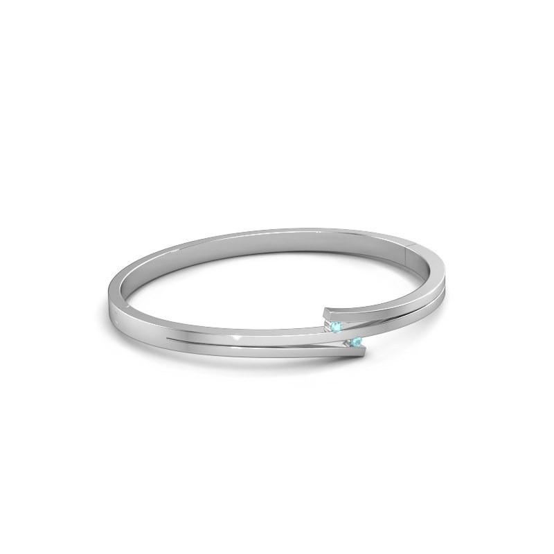 Armband Roxane 950 platina blauw topaas 2 mm