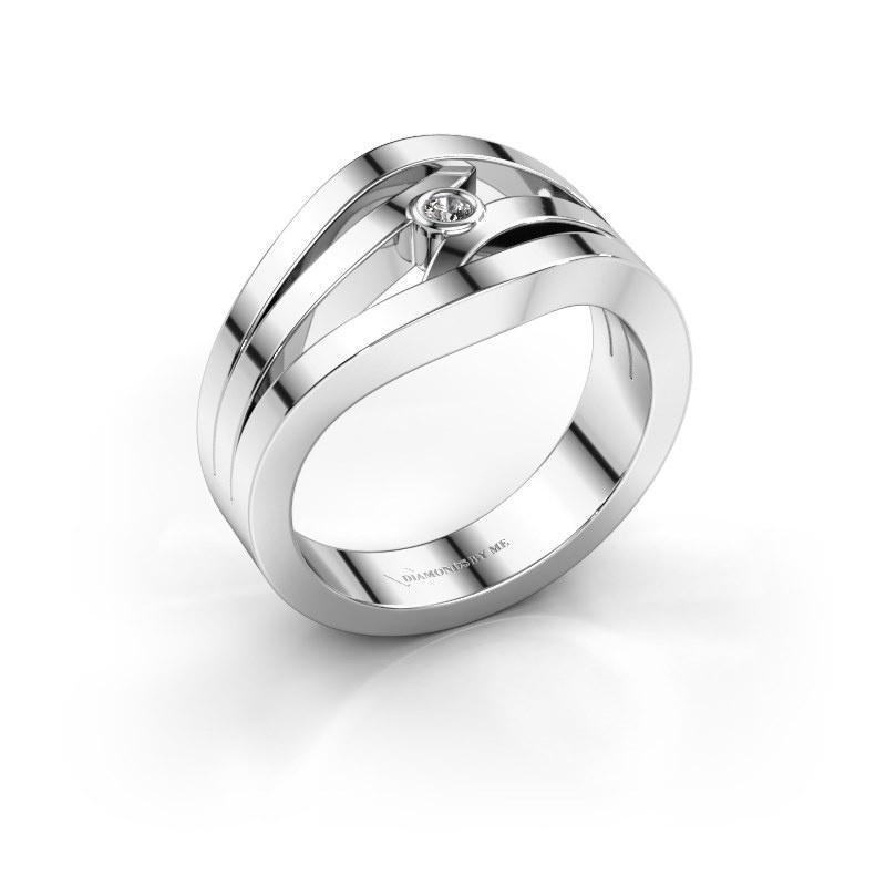 Bague Carlijn 585 or blanc diamant synthétique 0.03 crt