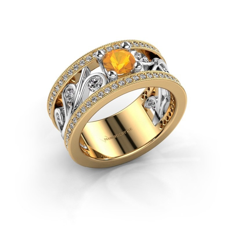 Ring Sanne 585 goud citrien 5 mm
