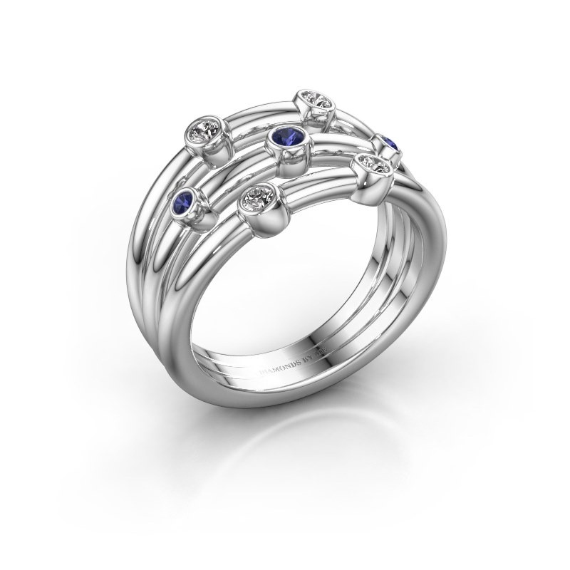 Ring Chloe 585 white gold sapphire 2 mm