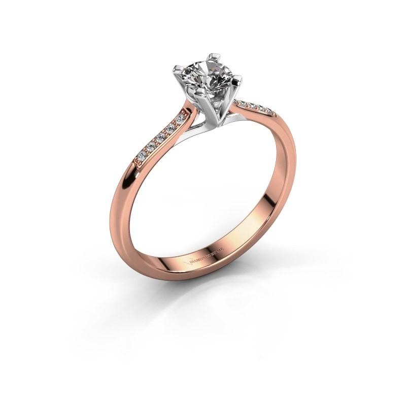 Verlobungsring{ucf Isa 2 375 Roségold Lab-grown Diamant 0.30 crt