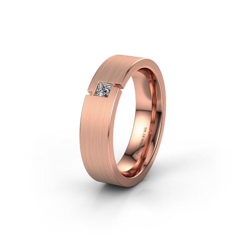 Trouwring WH2040L 375 rosé goud lab-grown diamant ±5x2.2 mm