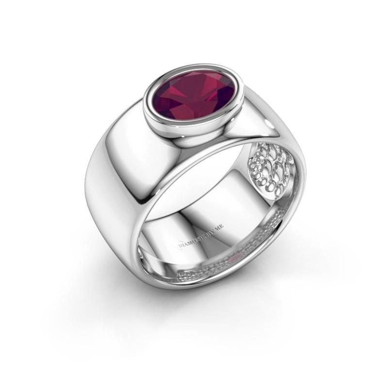 Ring Anouschka 925 Silber Rhodolit 8x6 mm