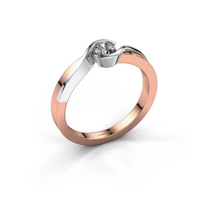 Bague Lola 585 or rose diamant 0.25 crt