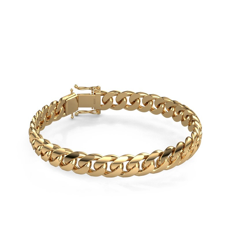 Cuban link armband ±10 mm 585 goud