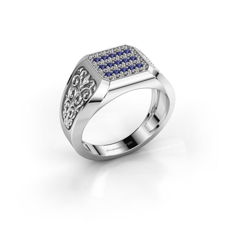 Herrenring Amir 925 Silber Saphir 1.4 mm