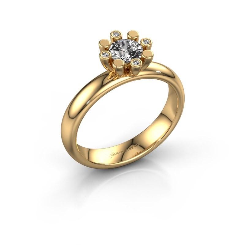 Stapelring Carola 2 585 goud lab-grown diamant 0.52 crt