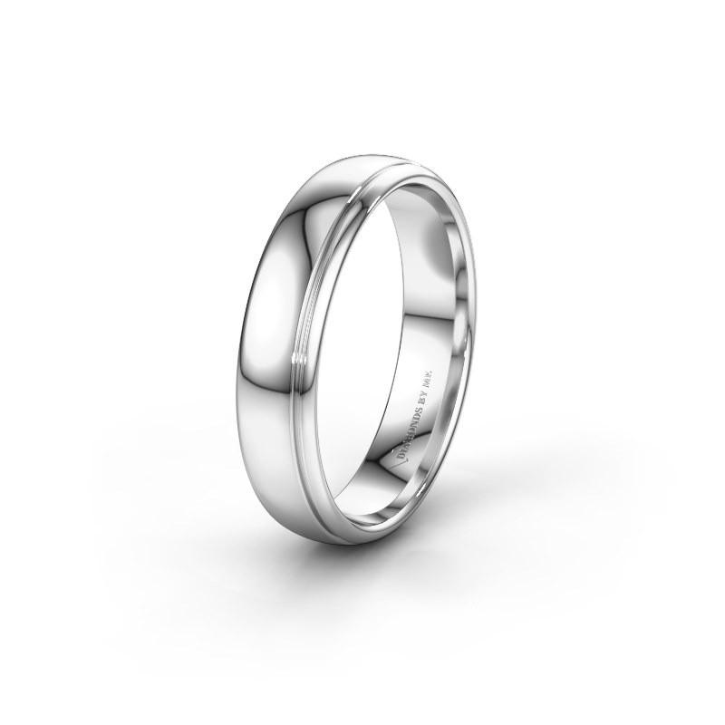 Wedding ring WH0500M35AP 585 white gold ±5x1.7 mm