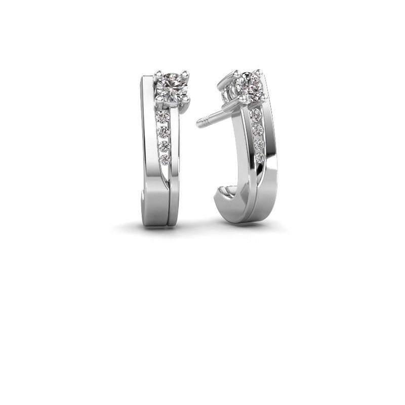 Oorbellen Jewell 950 platina diamant 0.218 crt