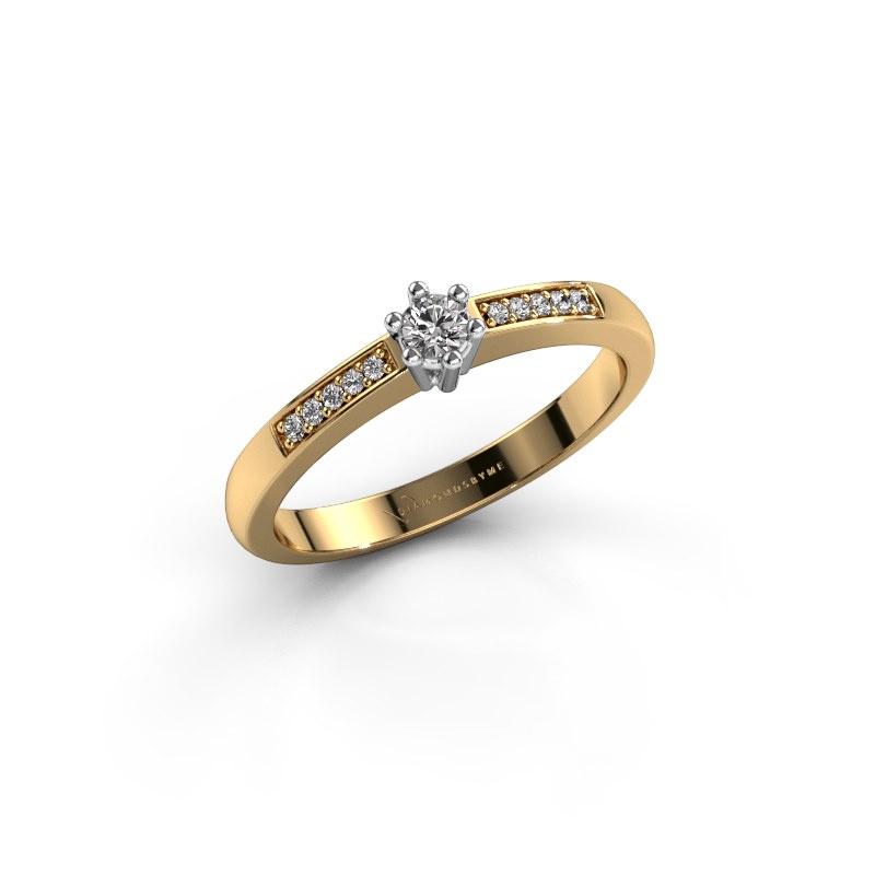 Verlovingsring Luna 2 585 goud diamant 0.055 crt