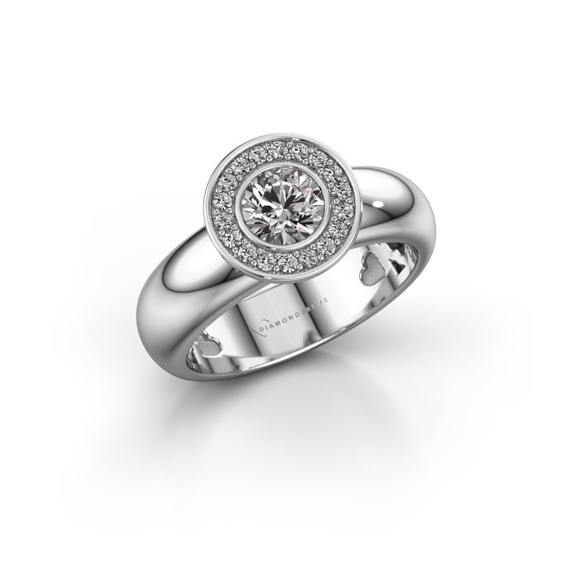 Stacking ring Anna 925 silver diamond 0.635 crt
