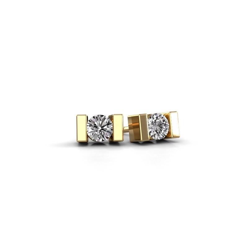 Oorstekers Lieve 585 goud lab-grown diamant 0.40 crt