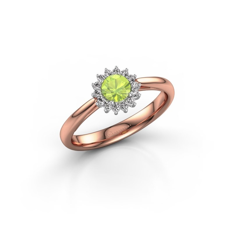 Engagement ring Tilly RND 1 585 rose gold peridot 4.2 mm