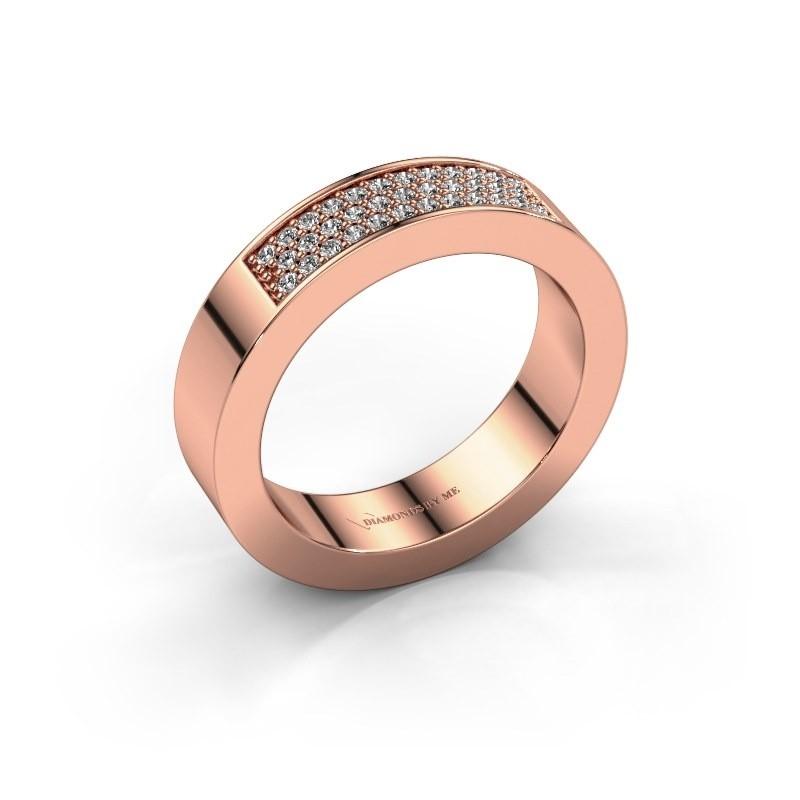 Ring Lindsey 1 375 rose gold diamond 0.235 crt