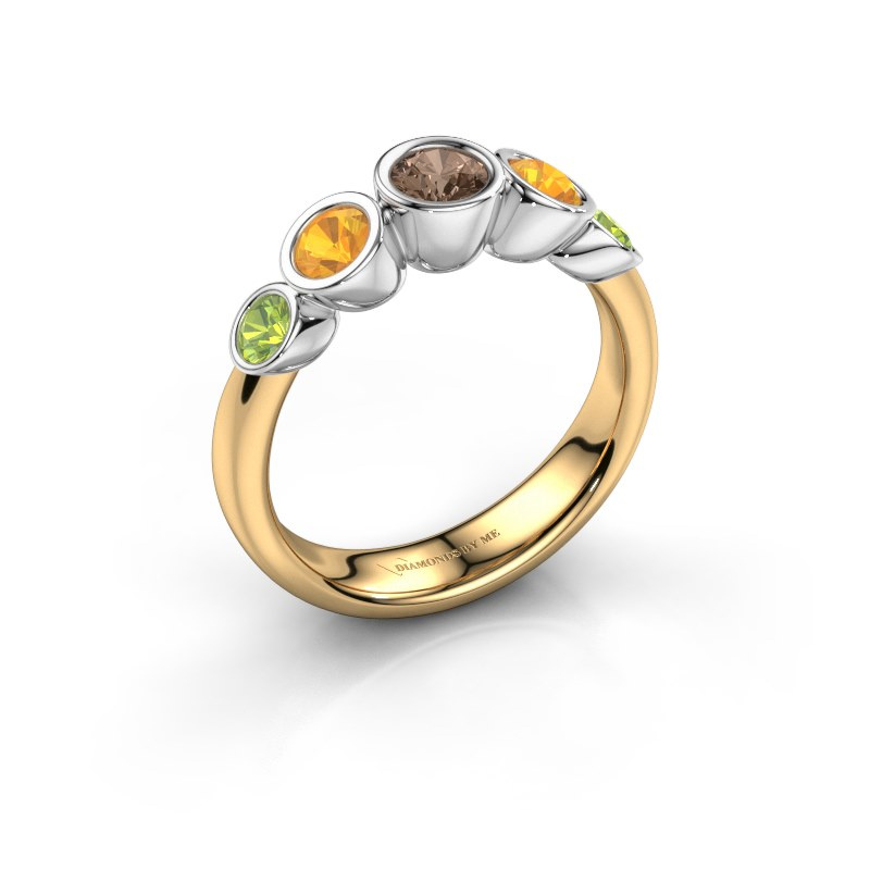 Ring Lizz 585 gold brown diamond 0.25 crt