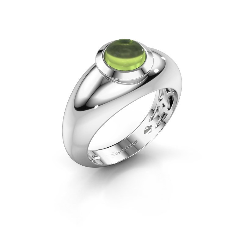 Ring Sharika 585 white gold peridot 6 mm