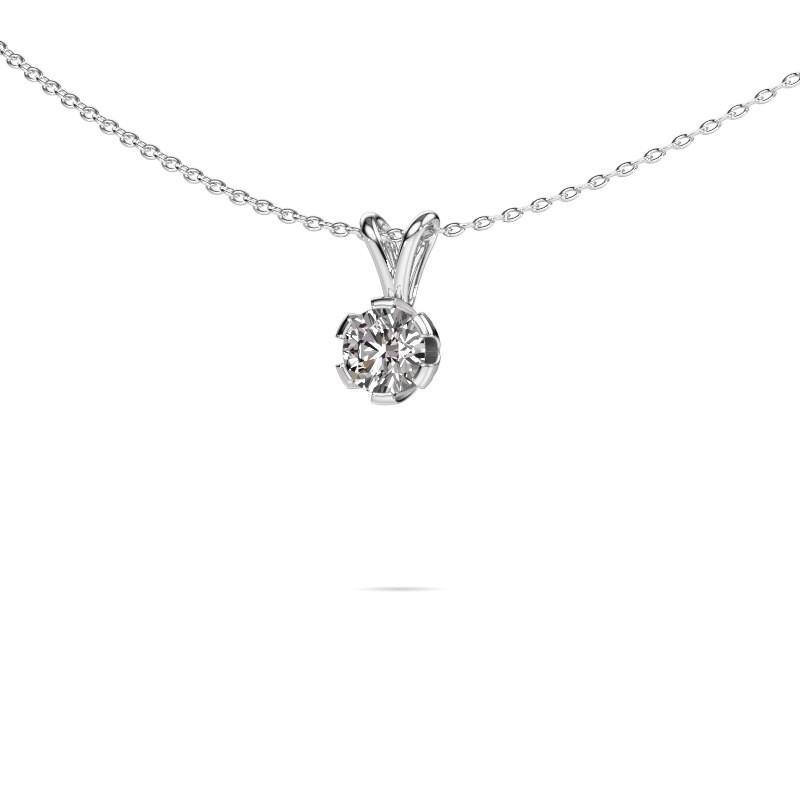 Ketting Julia 585 witgoud lab-grown diamant 0.50 crt