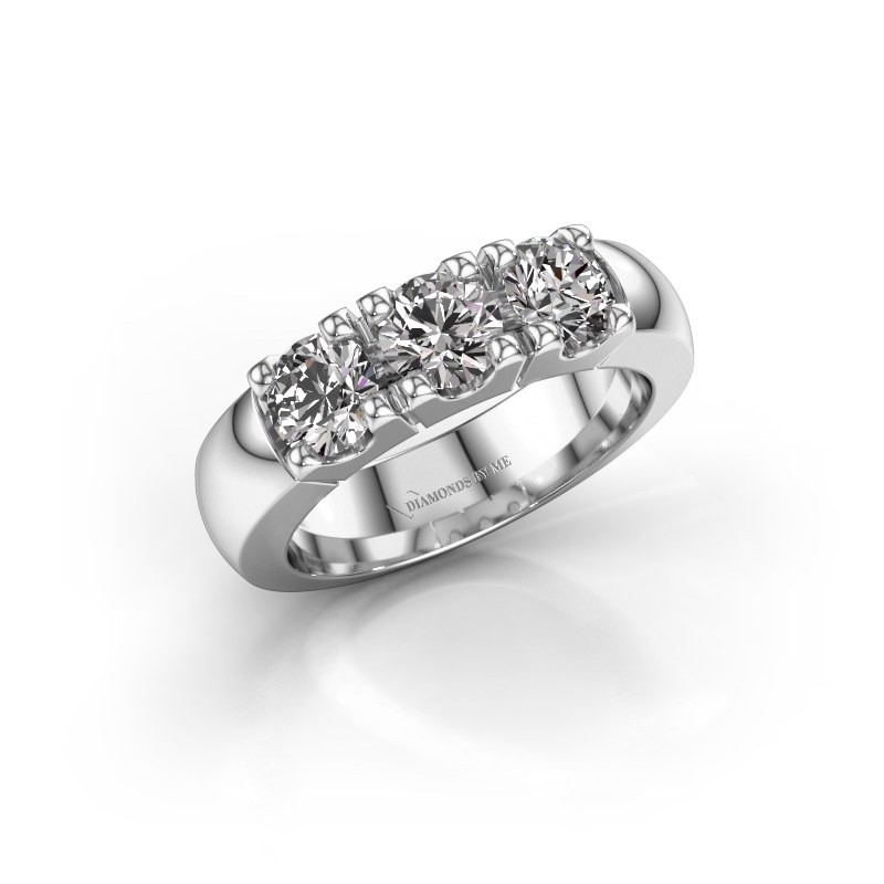 Engagement ring Rianne 3 925 silver diamond 1.50 crt