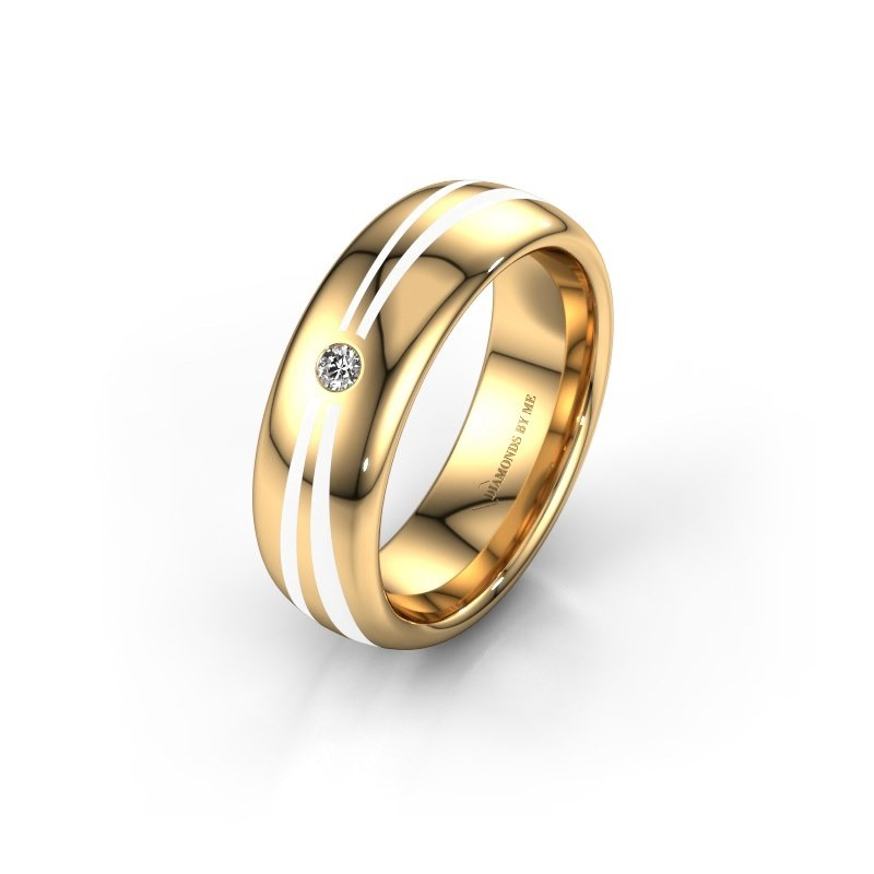 Wedding ring WH2226L36BP 375 gold ±0.24x0.08 in
